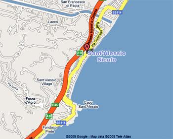 Cartina Autostradale Sicilia.Sant Alessio Siculo Comune Della Provincia Di Messina